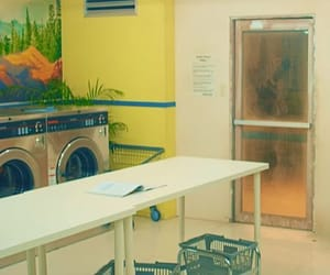 aesthetic, you never walk alone, and laundromat image