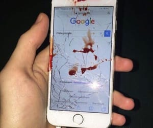 blood, iphone, and grunge image