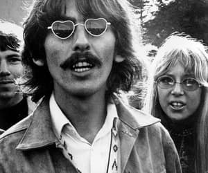 george harrison, the beatles, and pattie boyd image