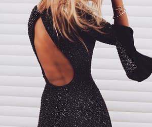 black dress, lovelulus, and lulus image
