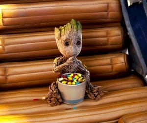baby groot, gif, and Marvel image