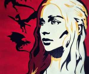 art, game of thrones, and emilia clarke image