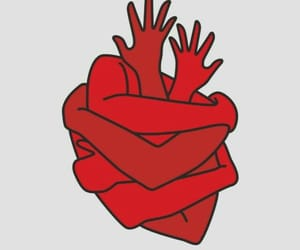 heart, red, and art image