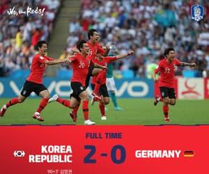 football, korea, and son image