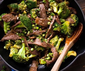 beef, broccoli, and meat image