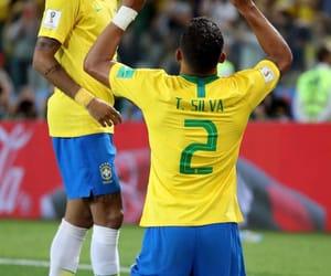 brazil, thiago silva, and neymar jr image