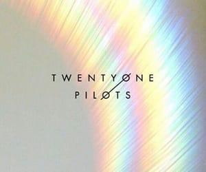 wallpaper, twenty one pilots, and rainbow image