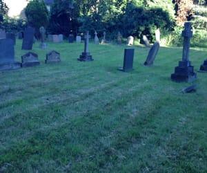 aesthetic, creepy, and gravestones image