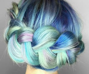 blue, hair, and beautiful image