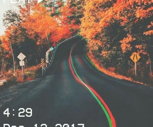 road and fall image