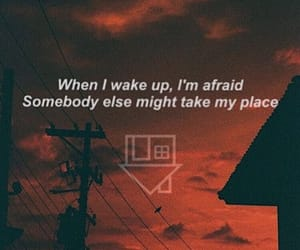 afraid, Lyrics, and red image