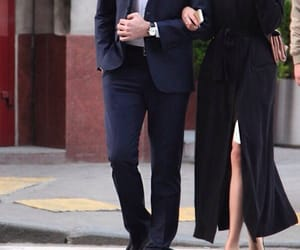 couple, beautiful, and suit image