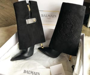 Balmain, black, and boots image