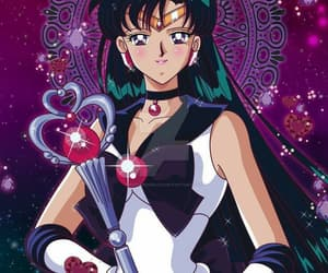 sailor pluto, sailor moon, and time image