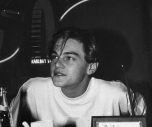 boy, leonardo dicaprio, and black and white image