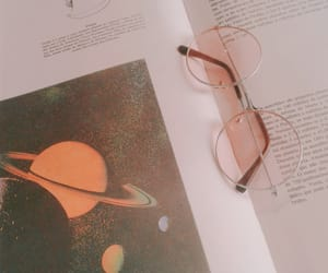 aesthetic, book, and glass image