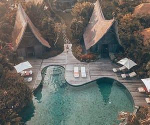 travel, pool, and bali image