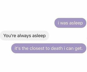 text, death, and purple image
