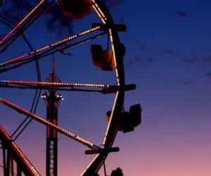 sky, amusement park, and wallpaper image