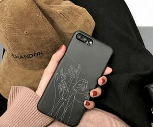 phone, case, and black image