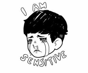 boy, drawing, and sad image