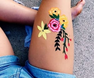 art, body paint, and goals image