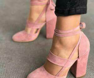 pink and high heel shoes image