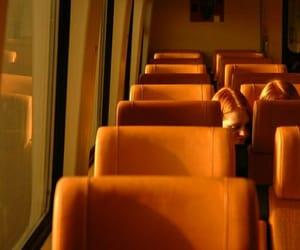 orange, aesthetic, and bus image