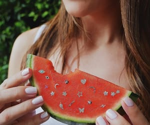 aesthetic, watermelon, and diamonds image