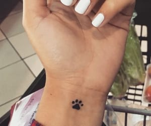 tattoo, paw, and small image