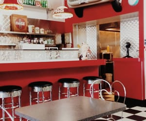 50s, aesthetic, and diner image