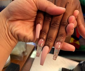 nails, clear, and pink image