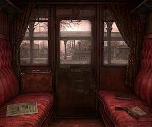 train, red, and gryffindor image