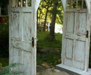 doors, garden, and fantasy image