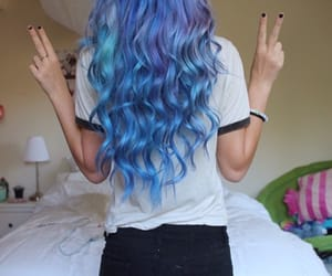 hair, blue, and quality image