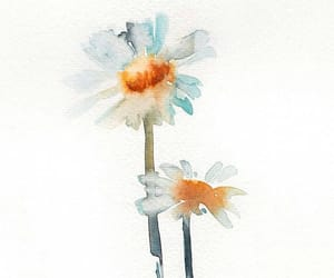 art, artwork, and daisies image