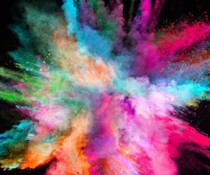 holi gulal powder, gulal colours powder, and color powders image
