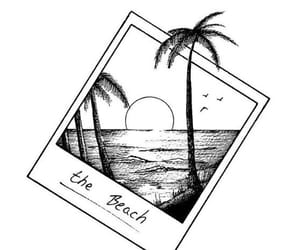 beach, drawing, and summer image