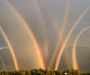 rainbow, nature, and sky image