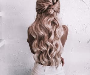 hair, fashion, and long hair image