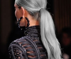 fashion, hair, and Balmain image