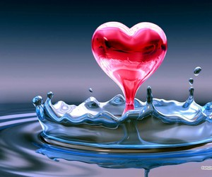 heart and water image