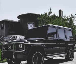 cars, mercedes, and black image