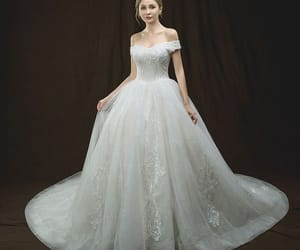bridal, tulle wedding gown, and gorgeous wedding dress image