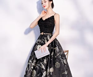 black gold, glitter, and formal dresses image
