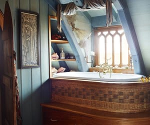 bathroom, wicker, and ireland image