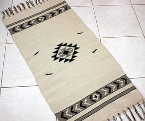 etsy, white wool rug, and white rug image