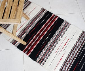 etsy, handmade rug, and black rug image