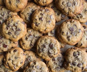 baked goods, chocolate chip cookies, and Cookies image
