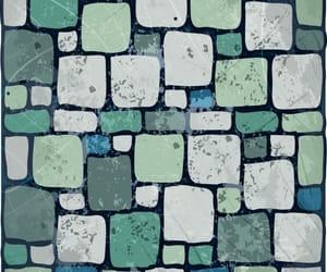 background, blue, and brick image